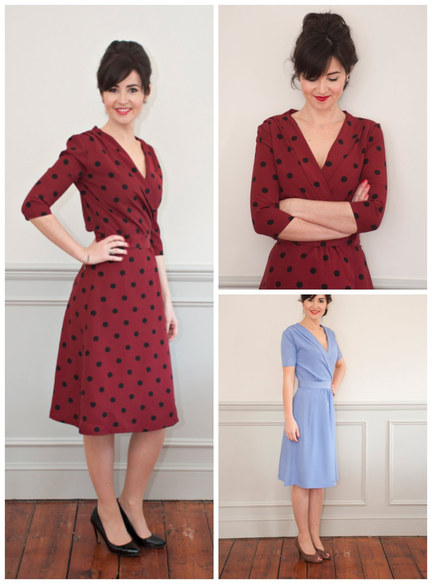 how to cut a wrap dress pattern