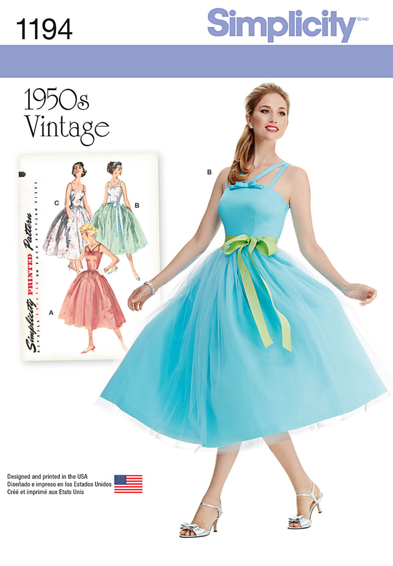 Simplicity 1194 Misses\' and Miss Petite Vintage Dress