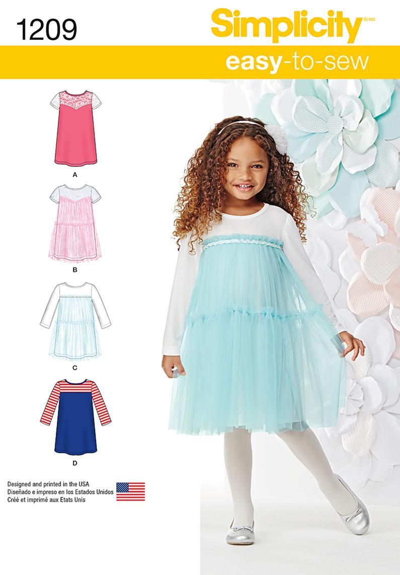 Simplicity 1209 Child\'s Knit Dresses