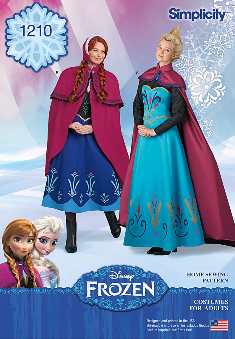 Simplicity 1210 Disney Frozen Costumes for Misses\'