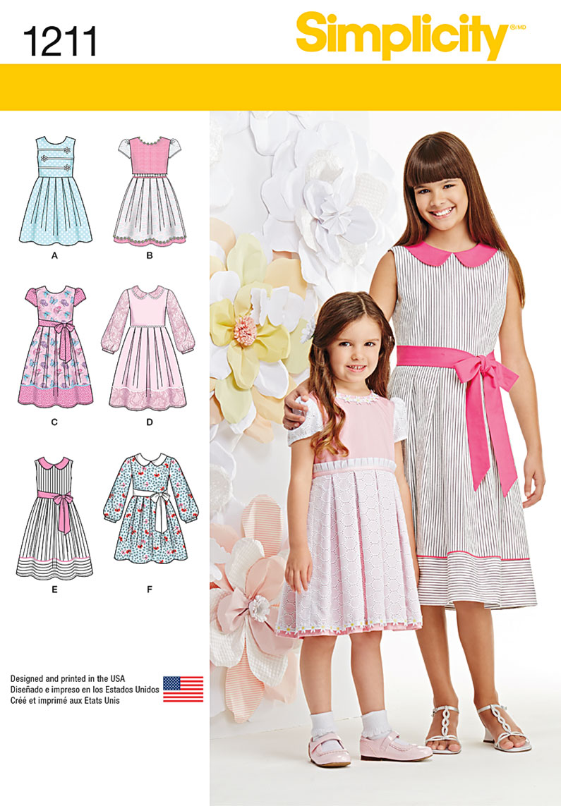 Simplicity 1211 Child's and Girls' Dress in two lengths