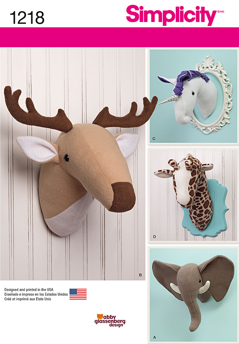 Stuffed Animal Patterns Simplicity Custom Decorating Design