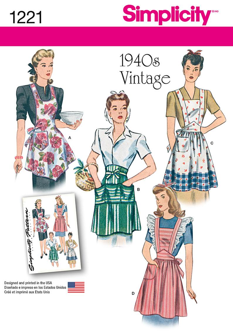 Simplicity 1221 Misses\' Vintage Aprons