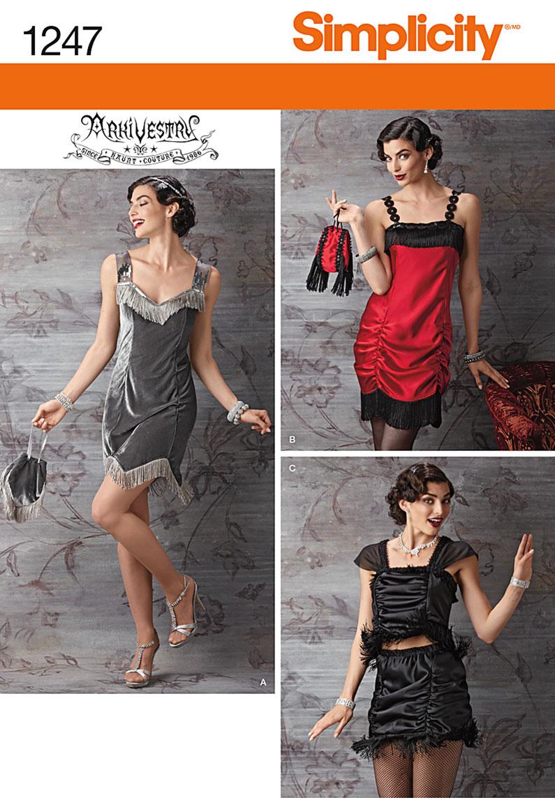 Simplicity 1247 Misses' Flapper Costume
