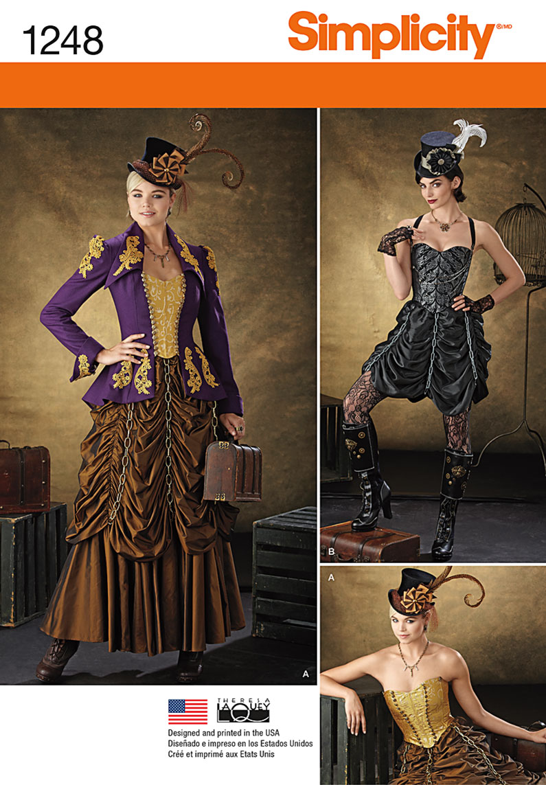 simplicity 1248 misses steampunk costumes