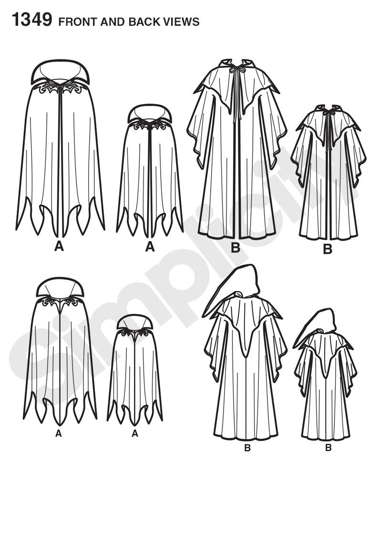 Simplicity 1349 boys and mens capes prevnext jeuxipadfo Choice Image