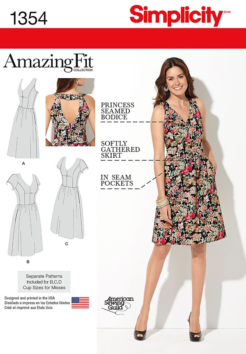 Simplicity 1354 Misses\' and Plus Size Amazing Fit Dress