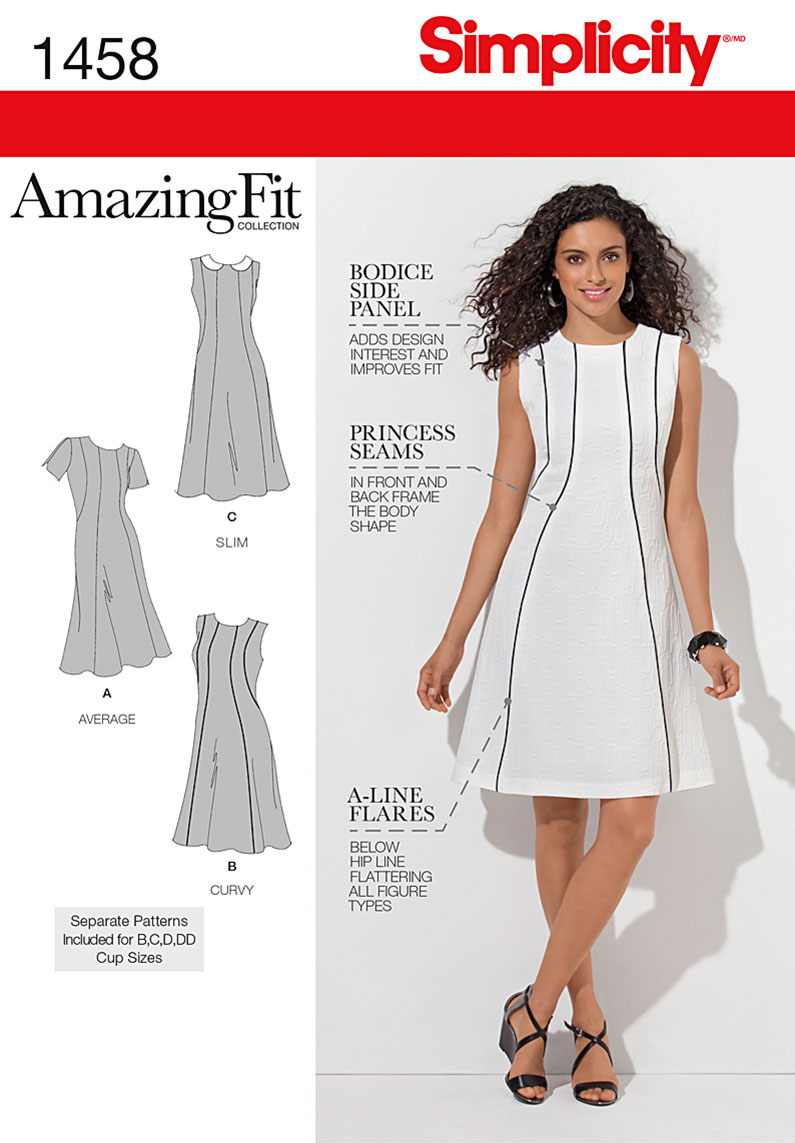 Simplicity 1458 Misses' & Plus Size Amazing Fit Dress