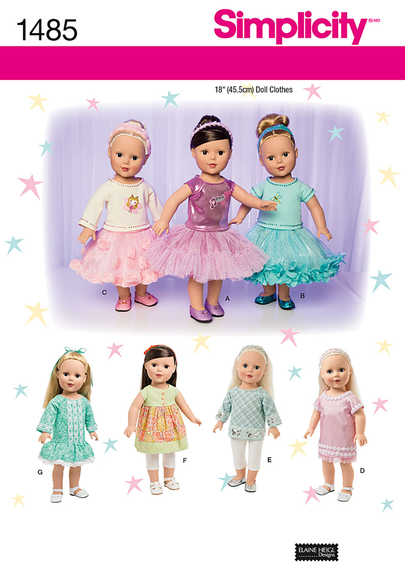 18 Doll Clothes Patterns New Decorating