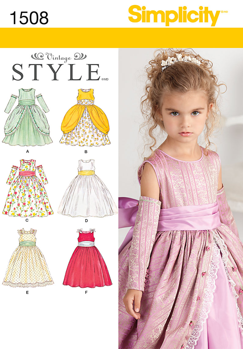 Simplicity 1508 Child S Special Occasion Dress