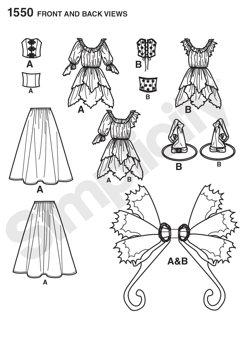 Simplicity 1550 Misses\' Amy Brown Fairy Costume