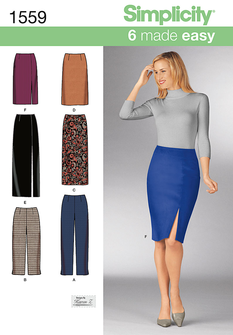 Simplicity 1559 Misses\' Skirts and Pants