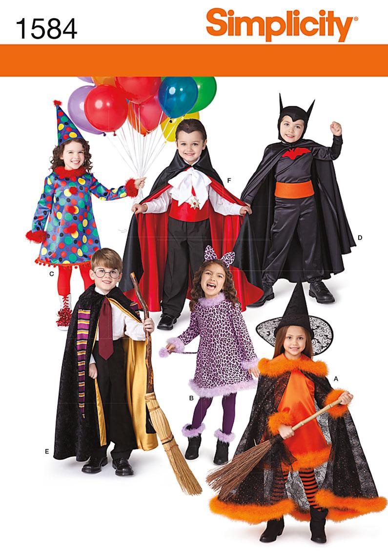 Simplicity 1584 Child's Costumes