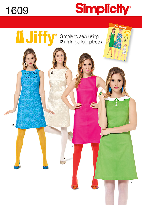 Simplicity 1609 Misses Dress
