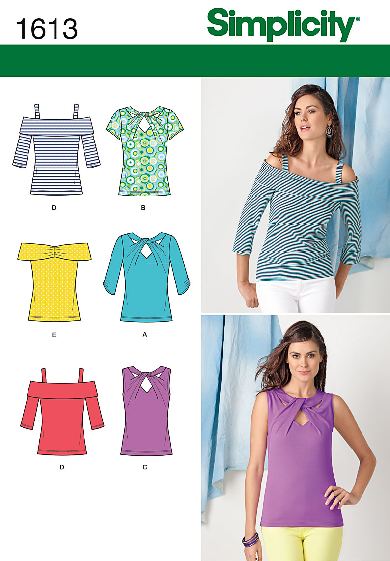 Simplicity 1613 Misses Tops