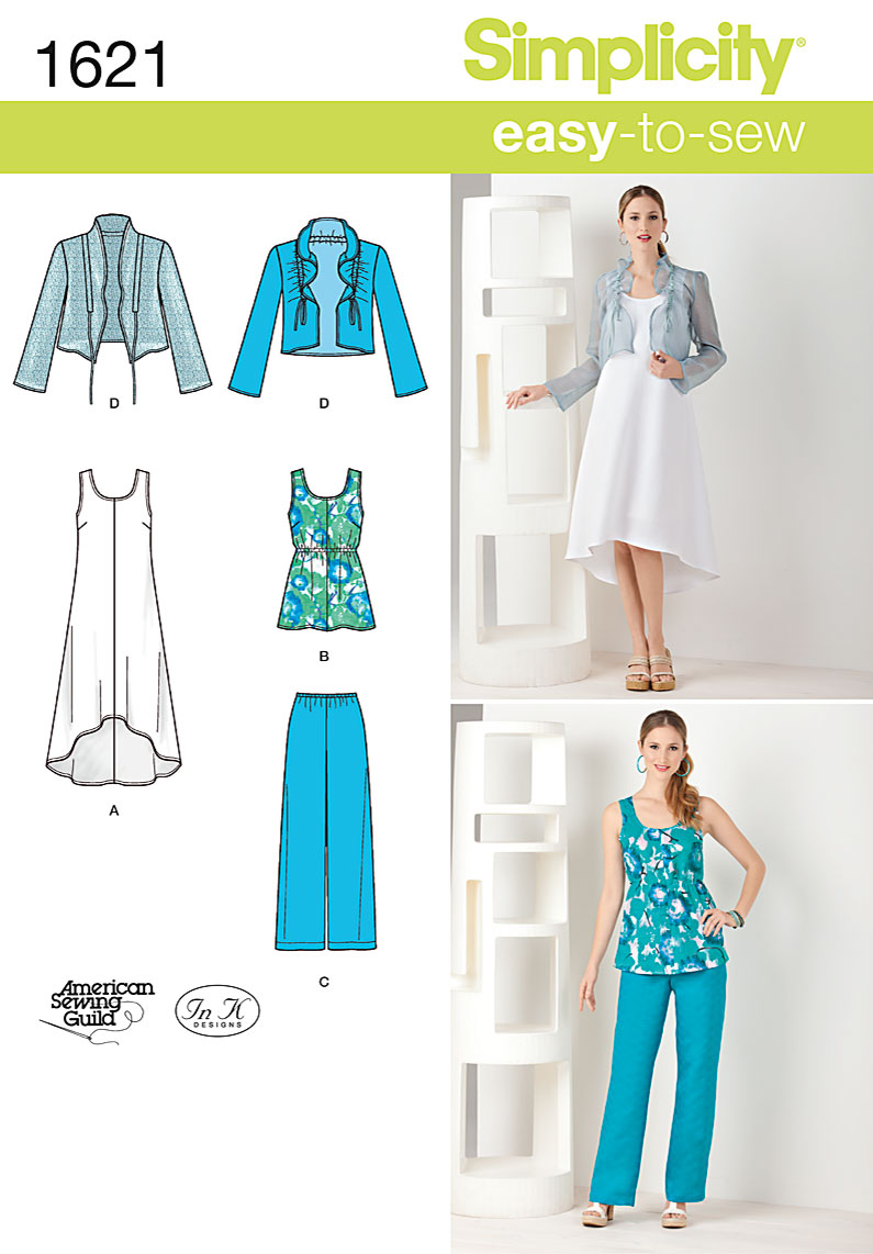 Simplicity 1621 Misses\' & Plus Size Dress & Separates