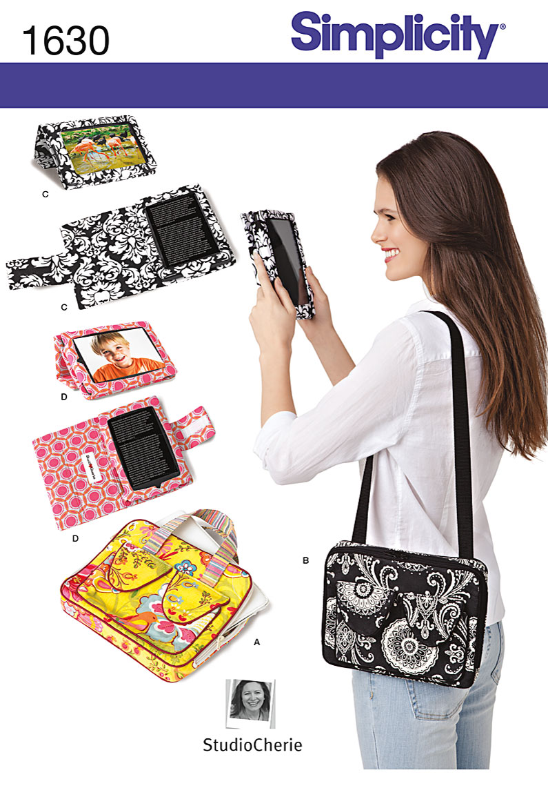 Pattern For Book Cover With Zipper ~ Simplicity e book covers carry case for tablets