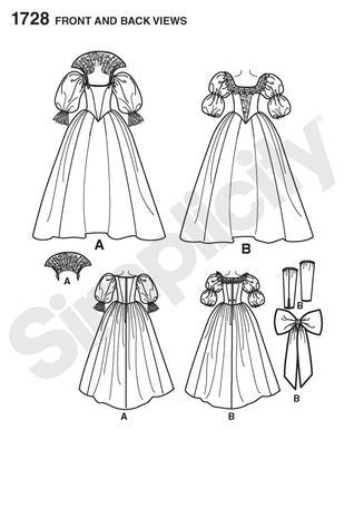 Simplicity 1728 Misses Costume
