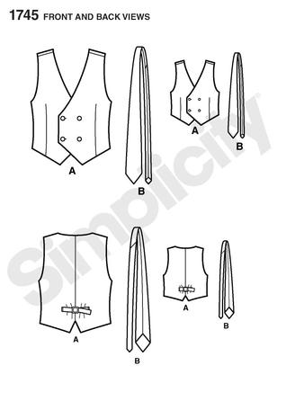 Simplicity 40 Boy's And Men's Vest Awesome Mens Vest Pattern Free