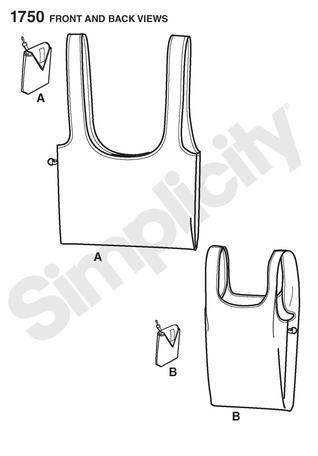 Simplicity 1750 Shopping Bag