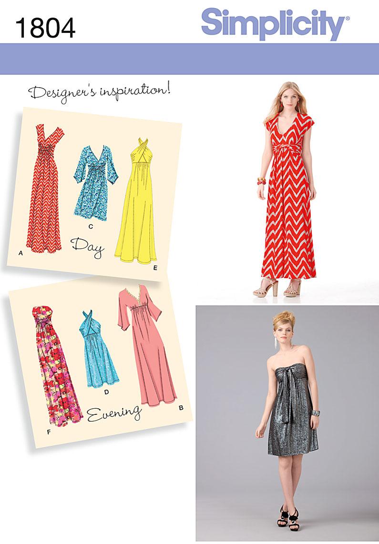 Simplicity 1804 Misses Dress