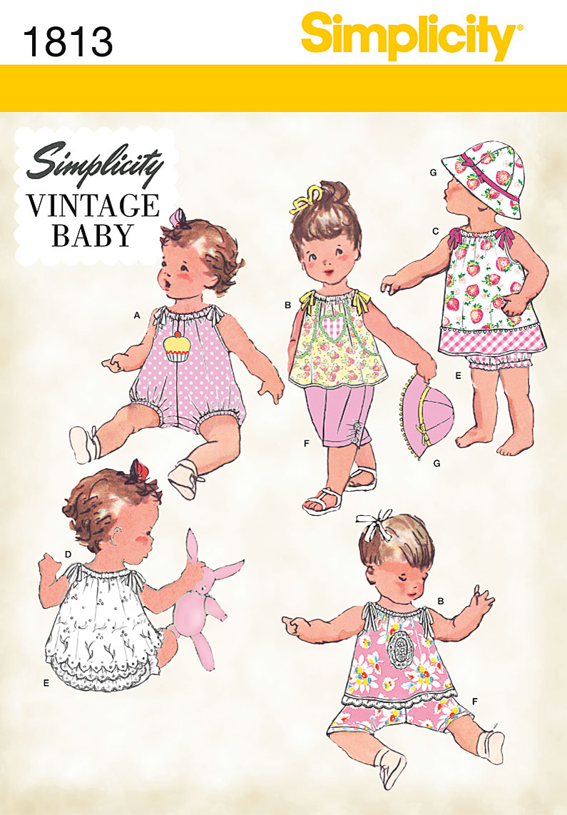 Simplicity 1813 Babies Dress Amp Separates
