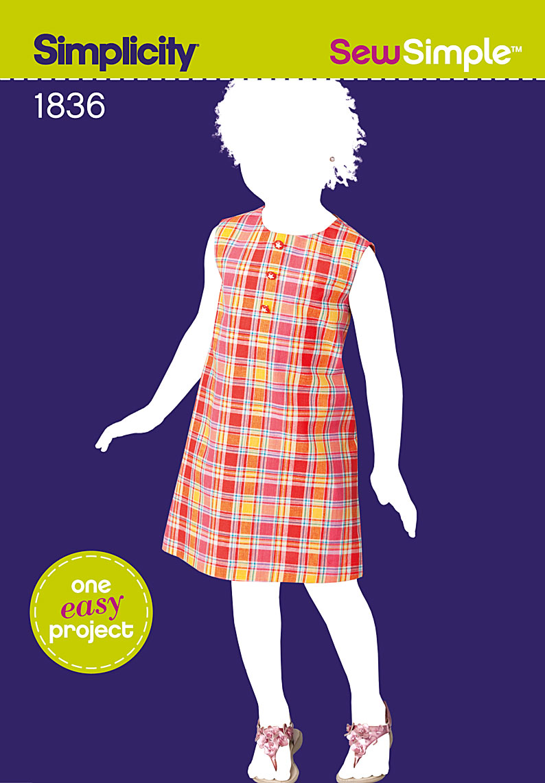 Simplicity 1836 sew simple childs dress prevnext jeuxipadfo Images
