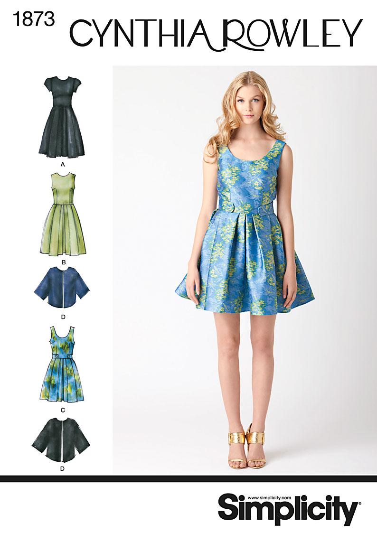 Simplicity 1873 Misses' & Miss Petite Dresses