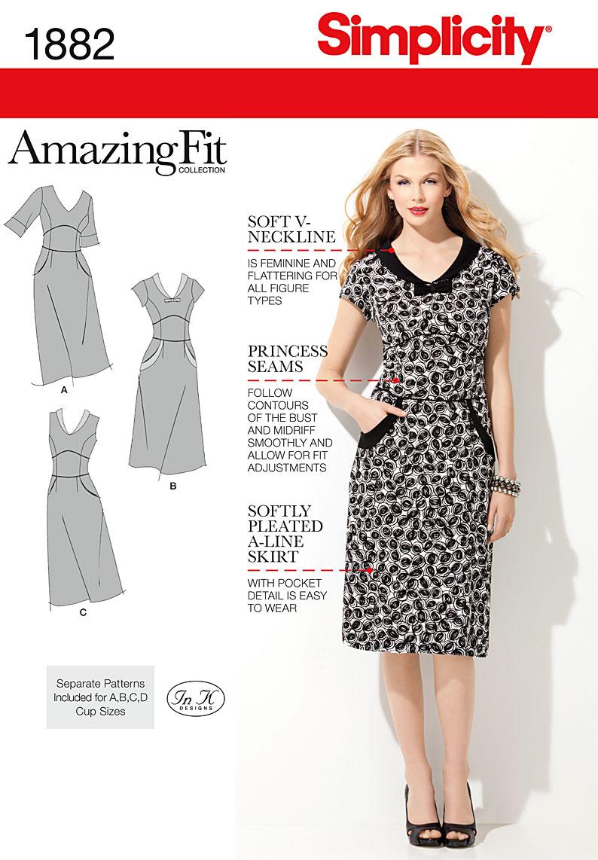 Simplicity 1882 Misses' & Miss Petite Dresses