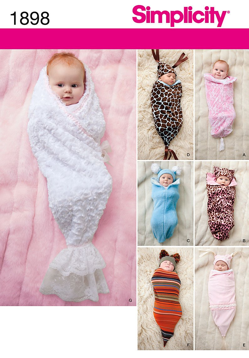 Simplicity 1898 Babies swaddling Costume and Hat