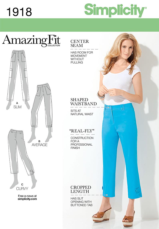 Simplicity 1918 Misses Amp Miss Petite Amazing Fit Pants