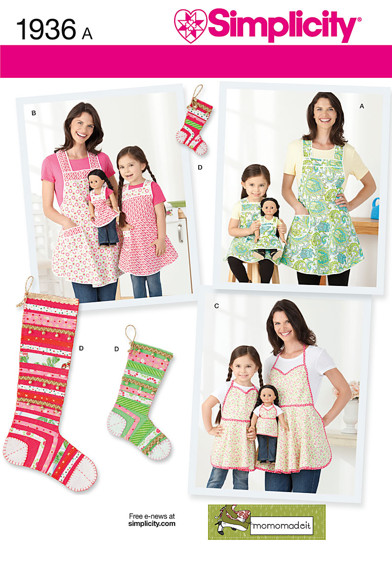 acdd4b2a01 Simplicity 1936 Child s   Misses  Aprons