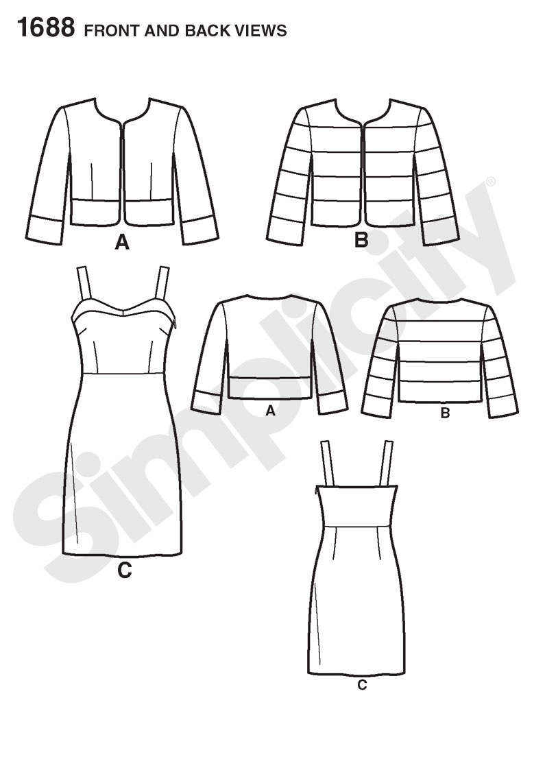 Simplicity 1688 Misses\' Dress and Jacket