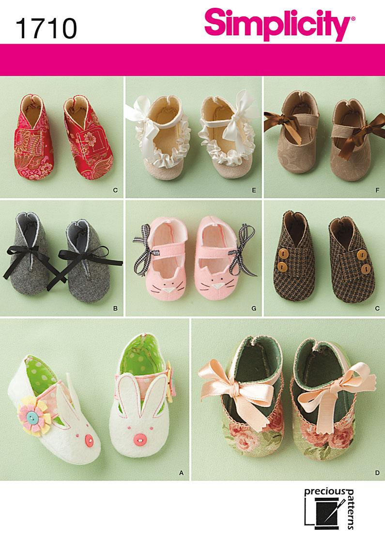 94ca8daa1f233 Simplicity 1710 Baby Shoes