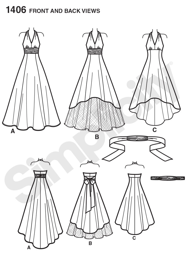 Simplicity 1406 Misses And Plus Size Special Occasion Dress