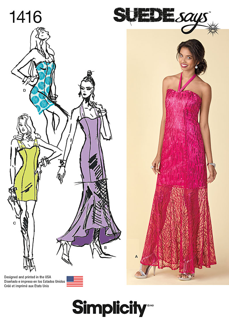 Simplicity 1416 Misses Special Occasion Dresses Suedesays