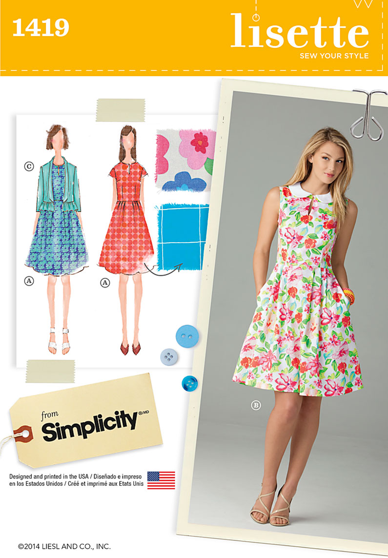 Simplicity 1419 Misses' Dress and Jacket
