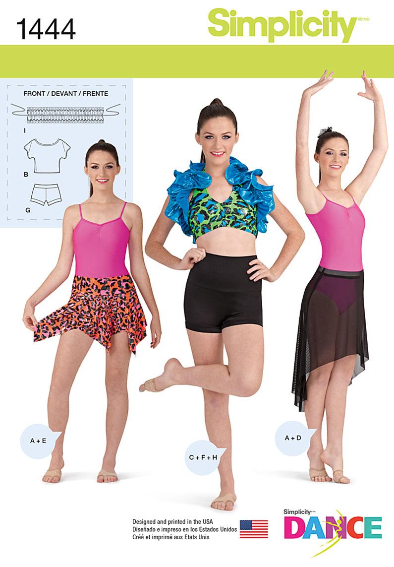 Simplicity 1444 Misses' Knit Dancewear - 148.2KB