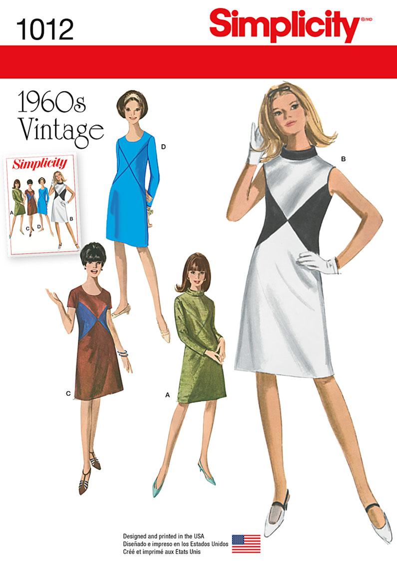 Simplicity 1012 Misses Vintage Dress