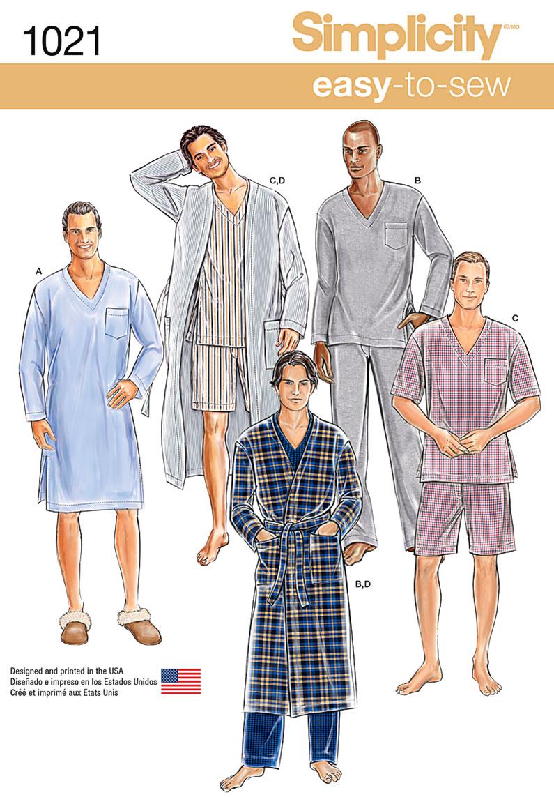 Simplicity 1021 Men\'s Pyjamas