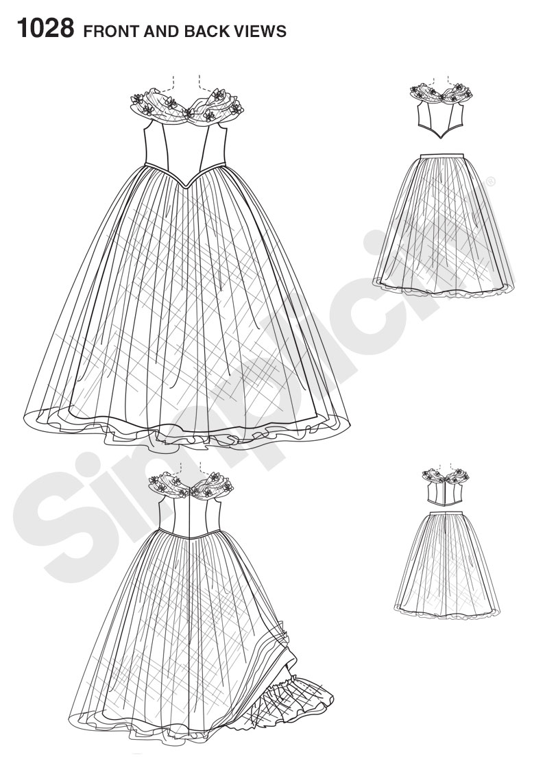 Simplicity 1028 Disney Cinderella Costume
