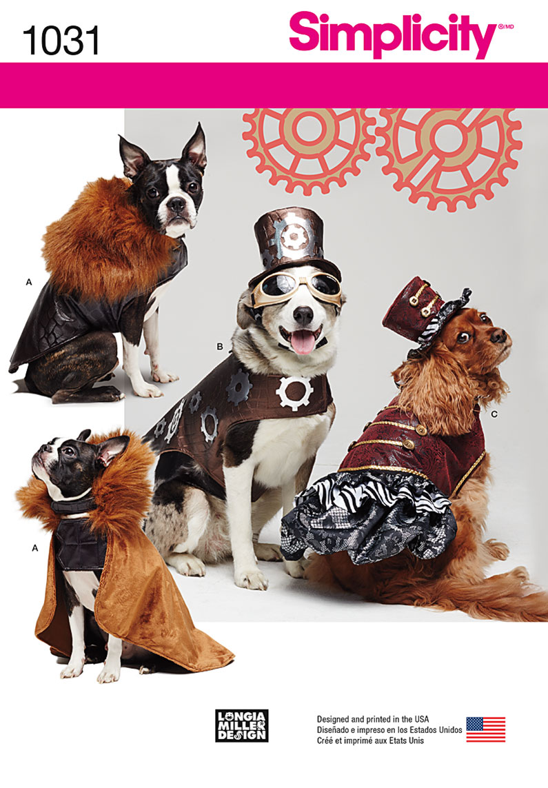 Simplicity 1031 dog costume coats and hats prevnext this adorable dog pattern jeuxipadfo Gallery