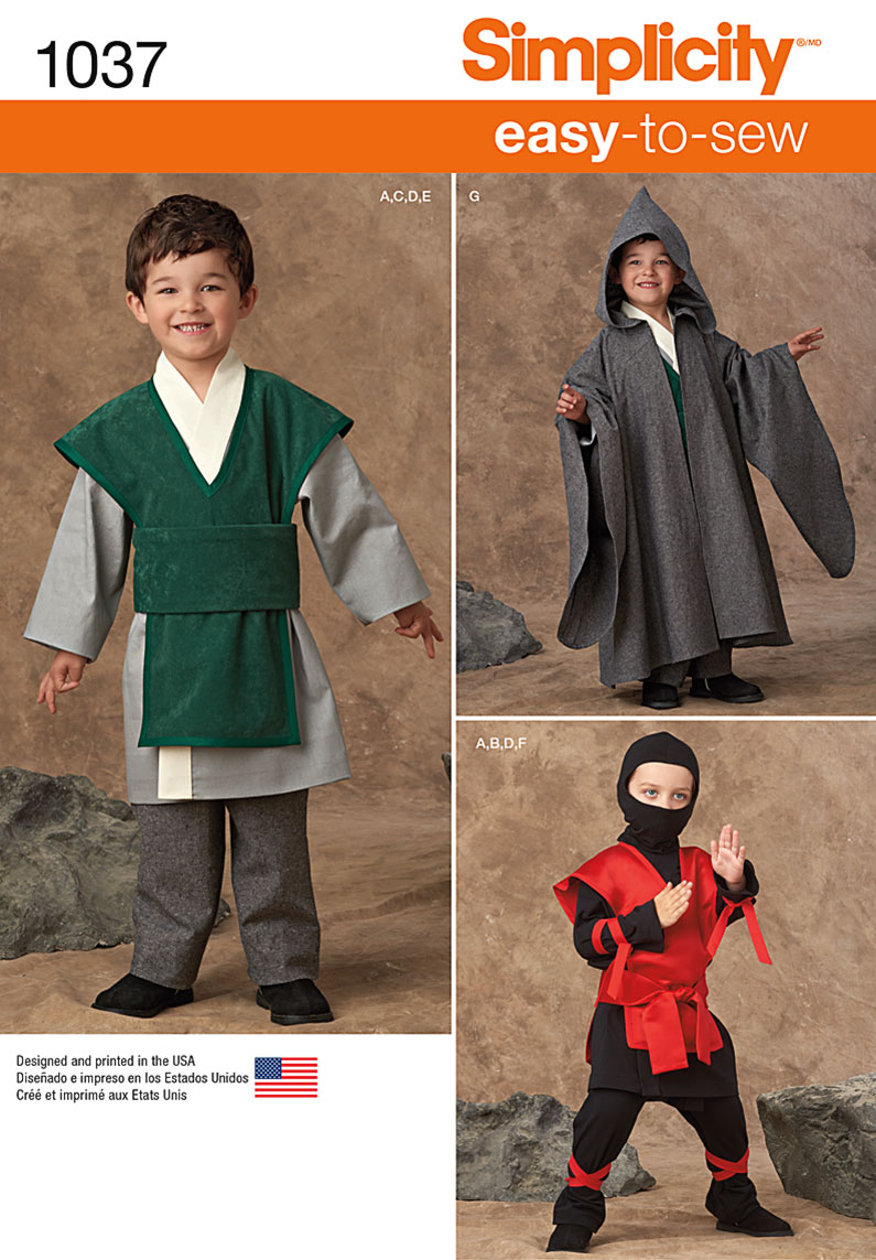 41d7e7f96 Simplicity 1037 Boys' Easy To Sew Costumes
