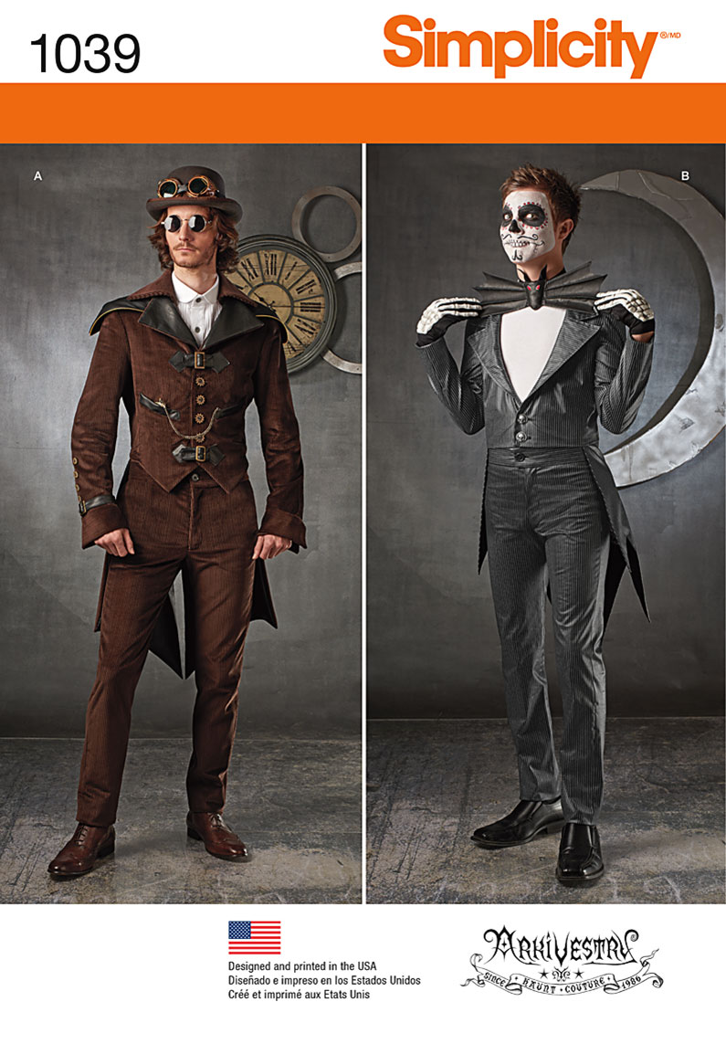 Simplicity 1039 Men's Cosplay Costumes