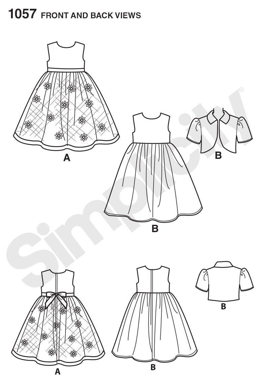 simplicity 1057 it u0026 39 s so easy 18 u0026quot  doll clothes
