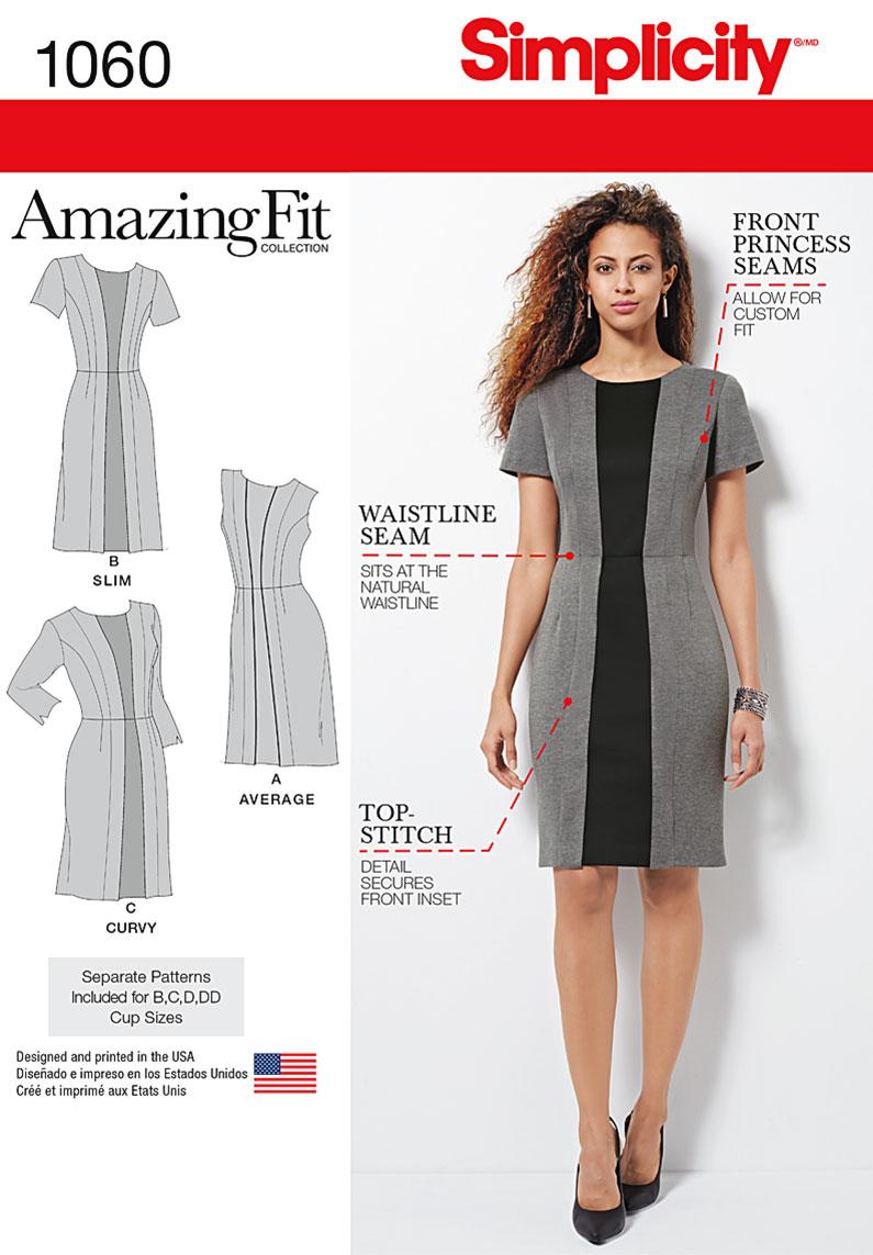 simplicity 1060 misses' & plus size amazing fit dress