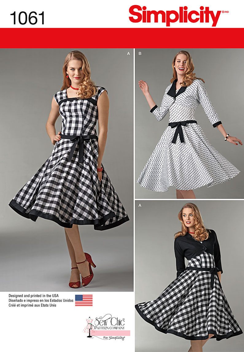 Simplicity 1061 Misses Sew Chic Dress And Lined Jacket