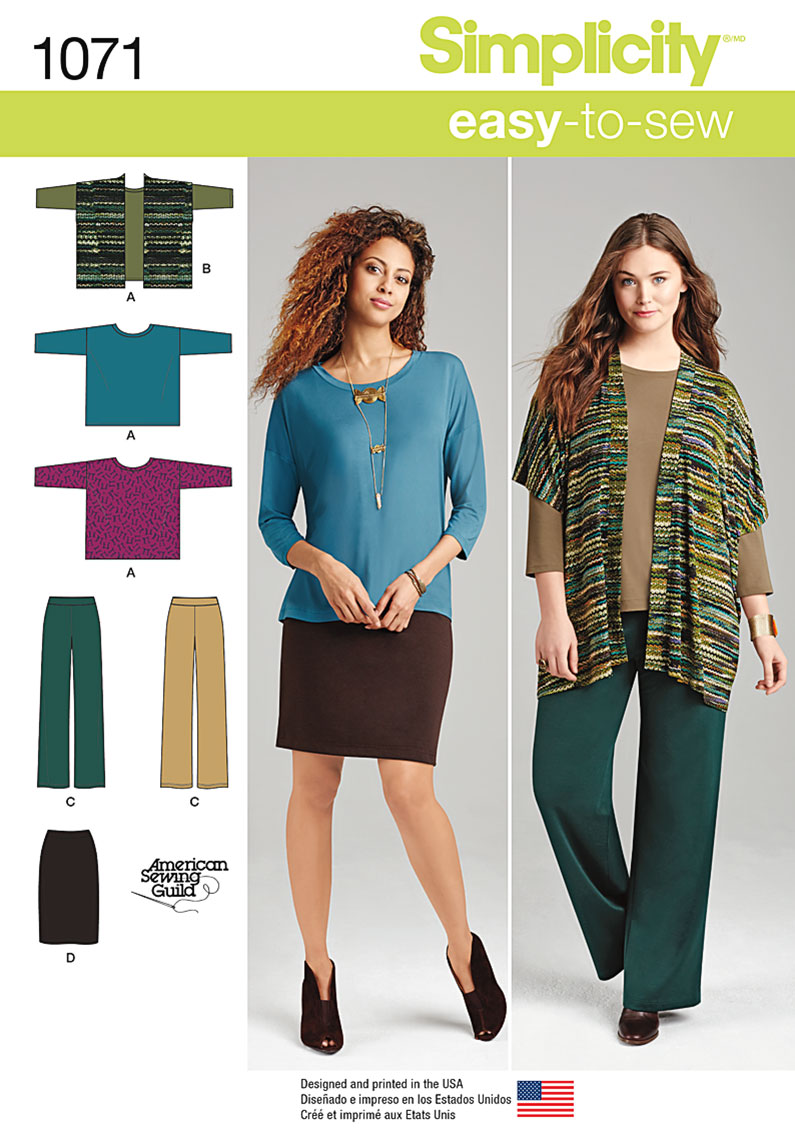 Simplicity 1071 miss and plus size knit sportswear prevnext misses and plus size jeuxipadfo Image collections
