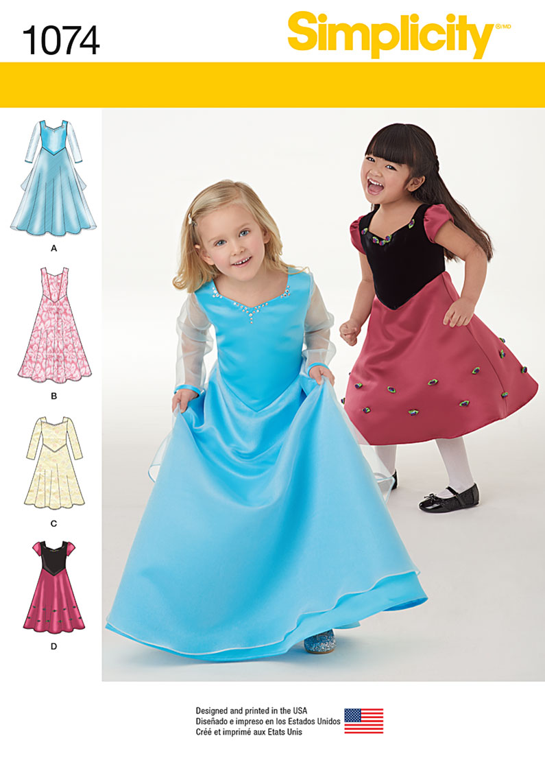Simplicity 1074 Toddlers' and Child's Dress in Two Lengths