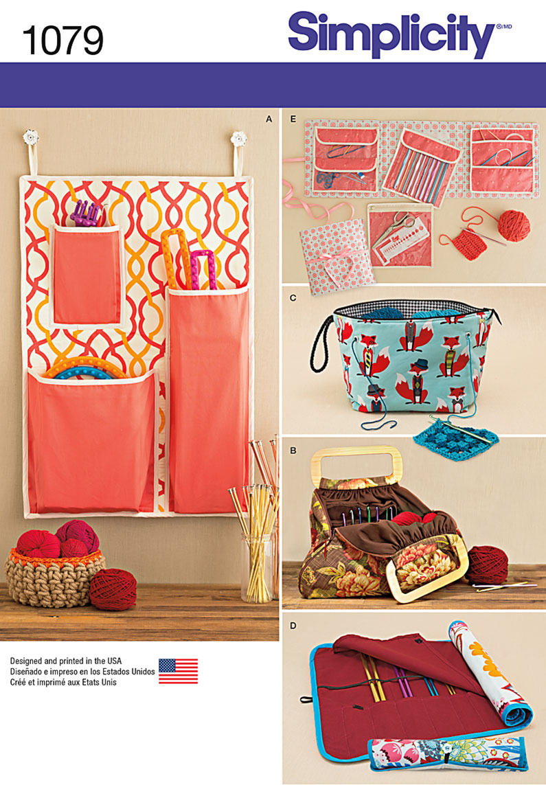 Simplicity 1079 Knitting and Crochet Storage Accessories